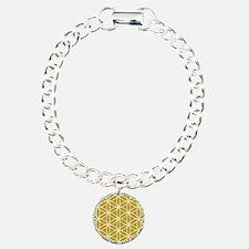 Flower of Life Lg Ptn WG Charm Bracelet, One Charm