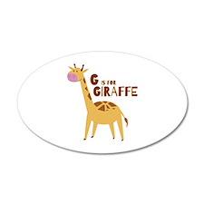 G for Giraffe Wall Decal