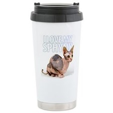 Cute Sphynx cats Travel Mug