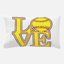 Love Softball Stitches Pillow Case