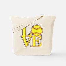 Love Softball Stitches Tote Bag