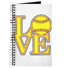 Love Softball Stitches Journal