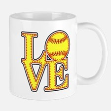 Love Softball Stitches Mugs