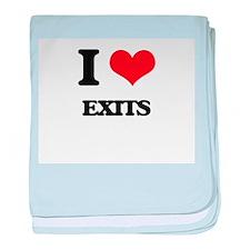 I love Exits baby blanket