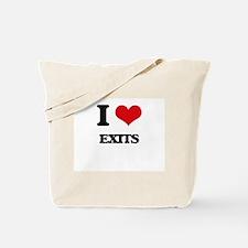 I love Exits Tote Bag
