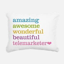 Telemarketer Rectangular Canvas Pillow