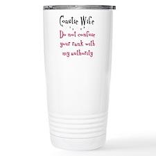 Unique Coastie wife Thermos Mug