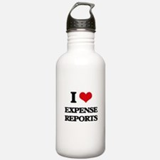 I love Expense Reports Water Bottle