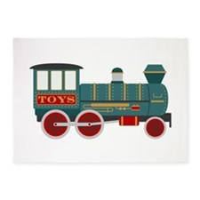 Toy Train 5'x7'Area Rug