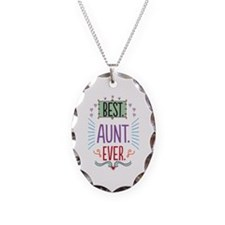 Best Aunt Ever Necklace Oval Charm