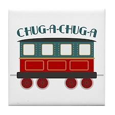 Chug A Train Tile Coaster