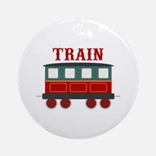 Train Car Ornament (Round)