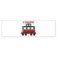 Train Caboose Bumper Bumper Sticker