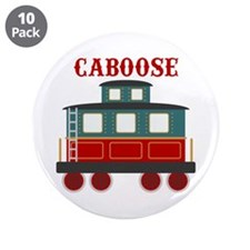 "Train Caboose 3.5"" Button (10 pack)"