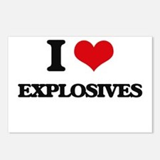 I love Explosives Postcards (Package of 8)
