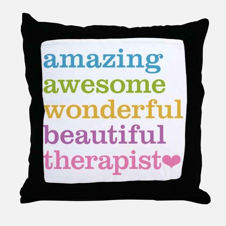 Awesome Therapist Throw Pillow