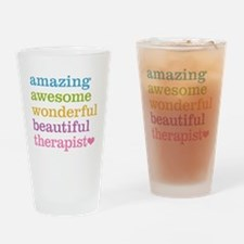 Awesome Therapist Drinking Glass