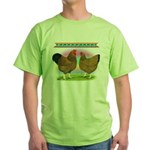 Golden Wyandottes Green T-Shirt