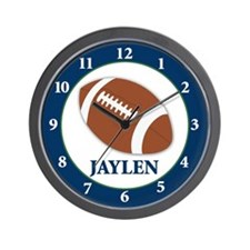 Football Clock - Jaylen Wall Clock