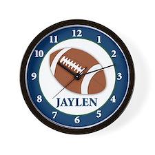 Football Clock - Jaylen Wall Clock