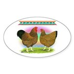 Golden Wyandottes Oval Sticker