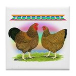 Golden Wyandottes Tile Coaster