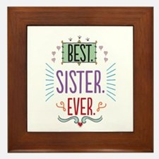 Sister Framed Tile