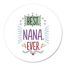 Nana Round Car Magnet