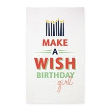 Birthday Girl Wish Area Rug