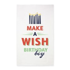 Birthday Boy Wish Area Rug