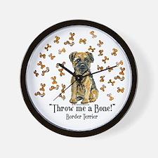 Border Terrier Bone! Wall Clock