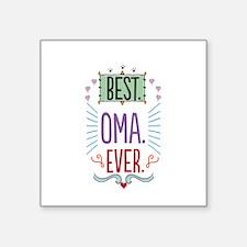 """Oma Square Sticker 3"""" x 3"""""""