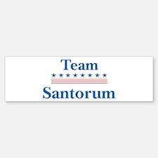Team Santorum Bumper Bumper Bumper Sticker