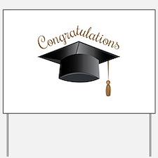 Congratulations Cap Yard Sign