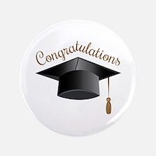 """Congratulations Cap 3.5"""" Button"""