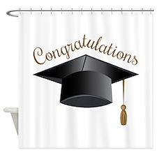Congratulations Cap Shower Curtain