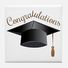 Congratulations Cap Tile Coaster