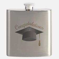 Congratulations Cap Flask