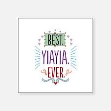 "Yiayia Square Sticker 3"" x 3"""