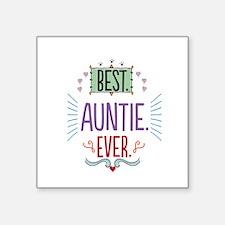 "Auntie Square Sticker 3"" x 3"""