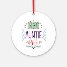 Auntie Ornament (Round)