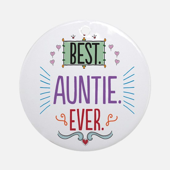 Auntie Ornament (Round)