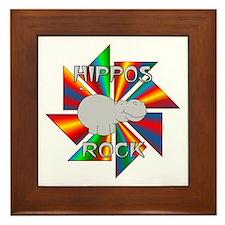 Hippos Rock Framed Tile