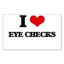 I love Eye Checks Decal