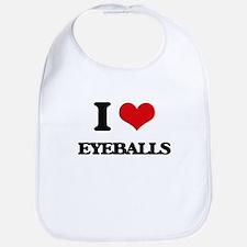 I love Eyeballs Bib