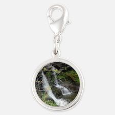 Unknown Falls (Gilboa) Silver Round Charm