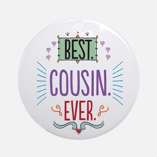 Cousin Ornament (Round)