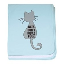 Cats YOLO baby blanket