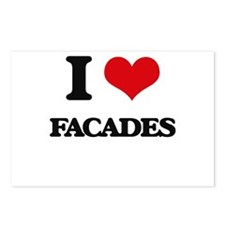 I Love Facades Postcards (Package of 8)