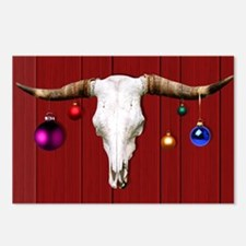 Cow Skull with Christmas Postcards (Package of 8)